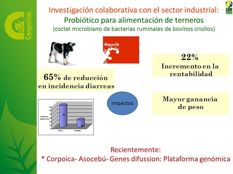 Investigación colaborativa con el sector industrial: Probiótico para alimentación de terneros (coctel microbiano de bacterias ruminales de bovinos cri
