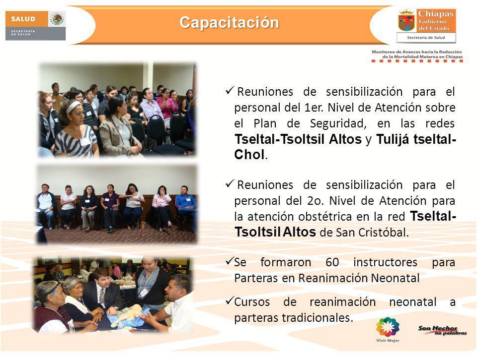 Proyecto de salud reproductiva en Tenejapa con recursos y asesoría de UNFPA Cero Muertes maternas desde 2011 Proyecto integral de Salud Reproductiva apoyado por CNEGySR, UNFPA y Secretaria de Pueblos y Culturas Indígenas.