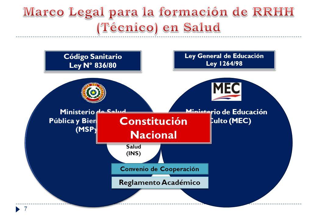 INSTITUTO NACIONAL DE SALUD Y LA FORMACION DE PROFESIONALES DE LA SALUD Rectoría y Regulación del funcionamiento de los Institutos Técnicos Superiores Desarrollo de CURSOS ESTRATEGICOS
