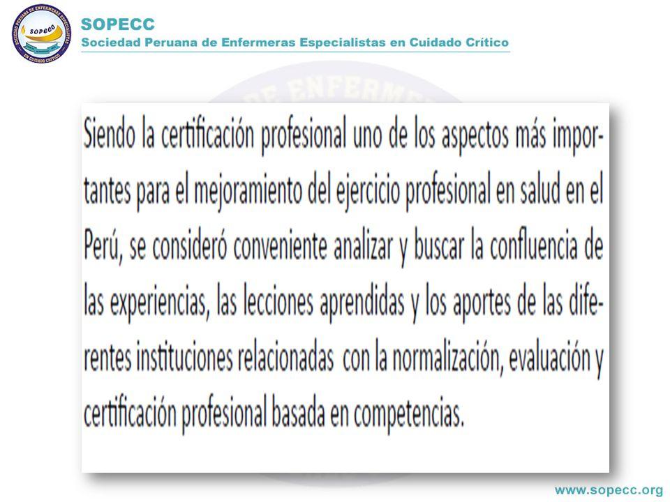CERTIFICACIÓN CERTIFICACIÓN ENFERMERA GENERAL ENFERMERA ESPECIALISTA