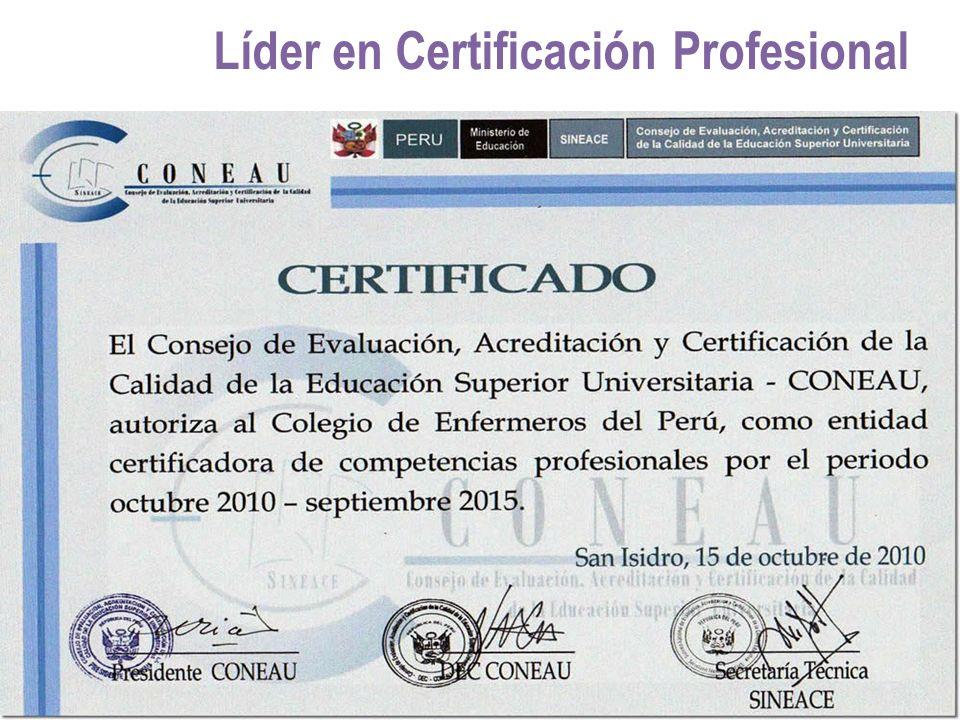 Líder en Certificación Profesional