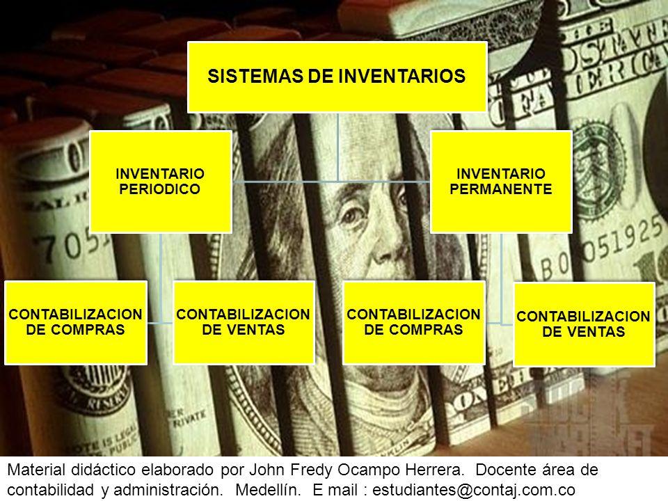 SISTEMAS DE INVENTARIOS INVENTARIO PERIODICO CONTABILIZACION DE COMPRAS CONTABILIZACION DE VENTAS INVENTARIO PERMANENTE CONTABILIZACION DE COMPRAS CON