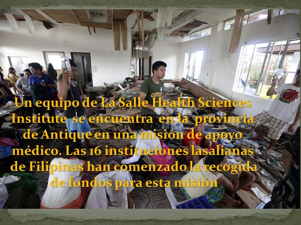 Un equipo de La Salle Health Sciences Institute se encuentra en la provincia de Antique en una misión de apoyo médico.