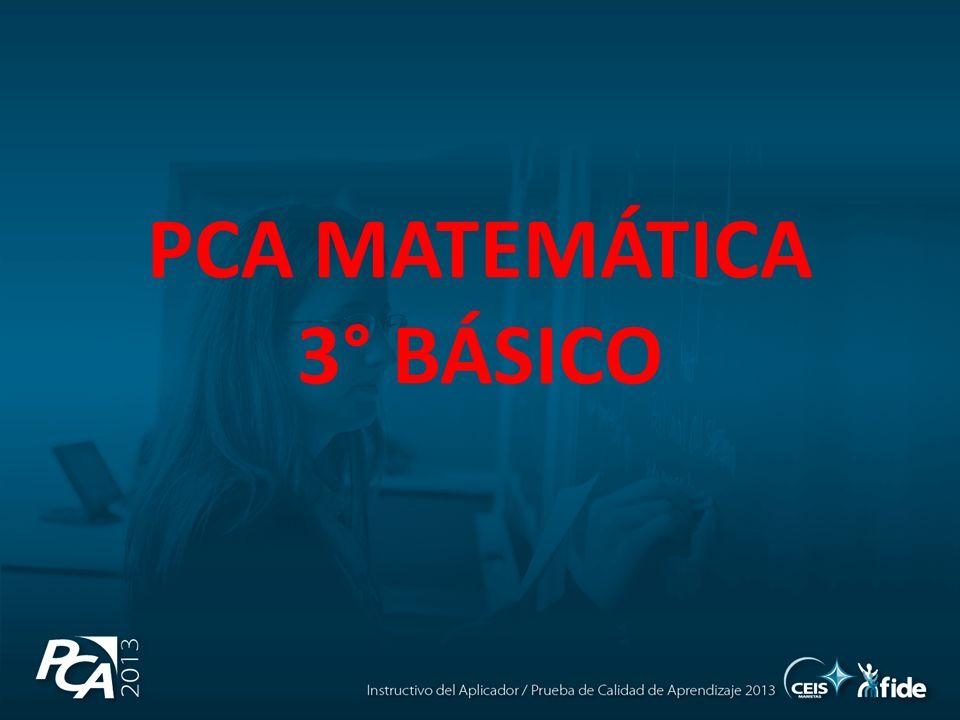 PCA MATEMÁTICA 3° BÁSICO