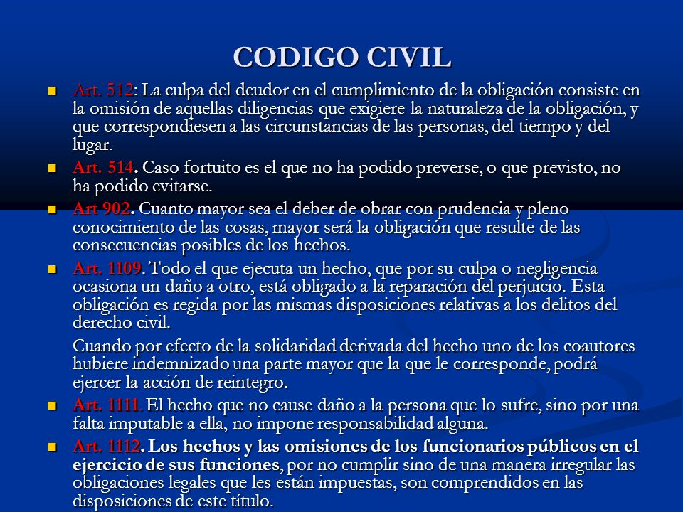 CODIGO CIVIL Art.