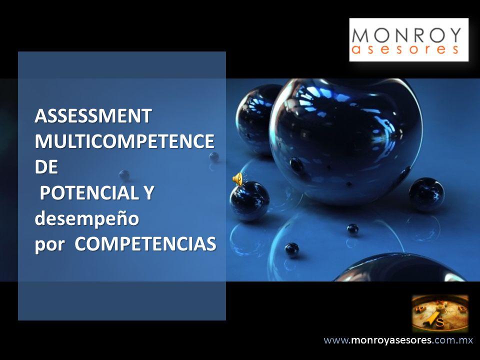 www.monroyasesores.com.mx ASSESSMENT MULTICOMPETENCE DE POTENCIAL Y desempeño por COMPETENCIAS