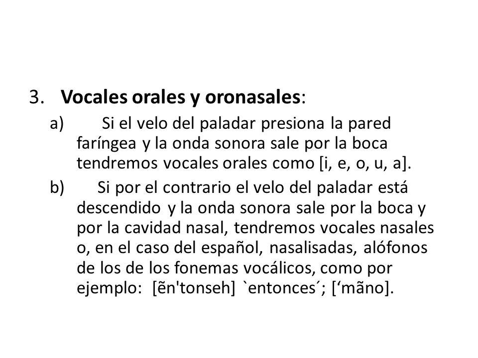 4.Vocales acentuadas e inacentuadas: a) Si reciben un grado mayor de energía articulatoria tendremos vocales acentuadas o tónicas.