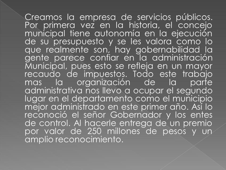 Creamos la empresa de servicios públicos.