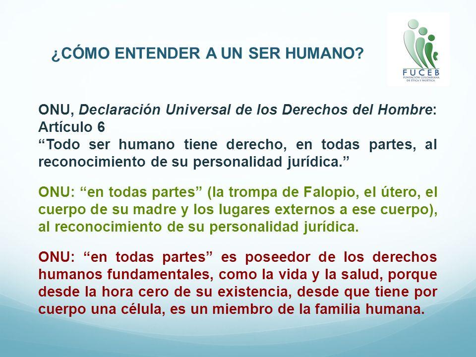ONU, Declaración Universal de los Derechos del Hombre: Artículo 6 Todo ser humano tiene derecho, en todas partes, al reconocimiento de su personalidad