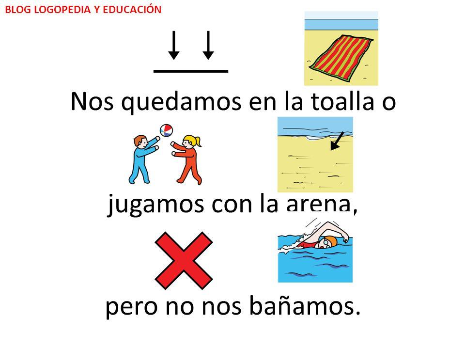 La bandera de color rojo, informa que: BLOG LOGOPEDIA Y EDUCACIÓN - No podemos bañarnos.