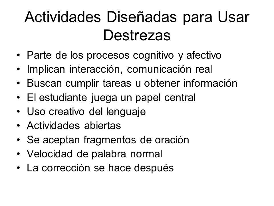 Aprendizaje Adquirir control del uso de determinadas estructuras o vocabulario –Control conceptual –Control parcial –Control total Volver atrás