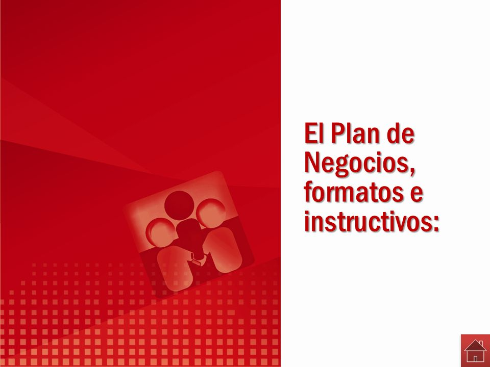 El Plan de Negocios, formatos e instructivos: