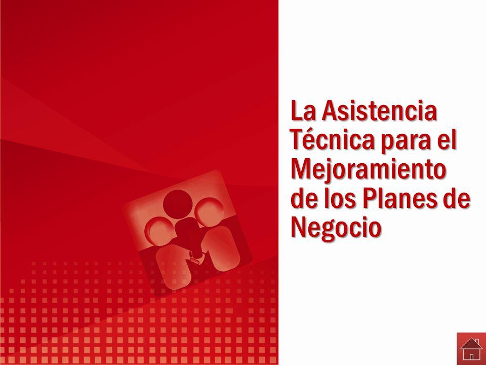 La Asistencia Técnica para el Mejoramiento de los Planes de Negocio