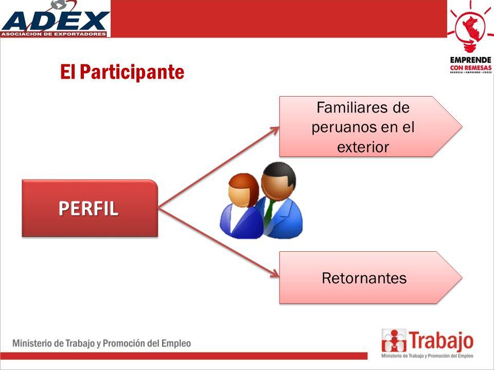 El Participante PERFILPERFIL Familiares de peruanos en el exterior Retornantes