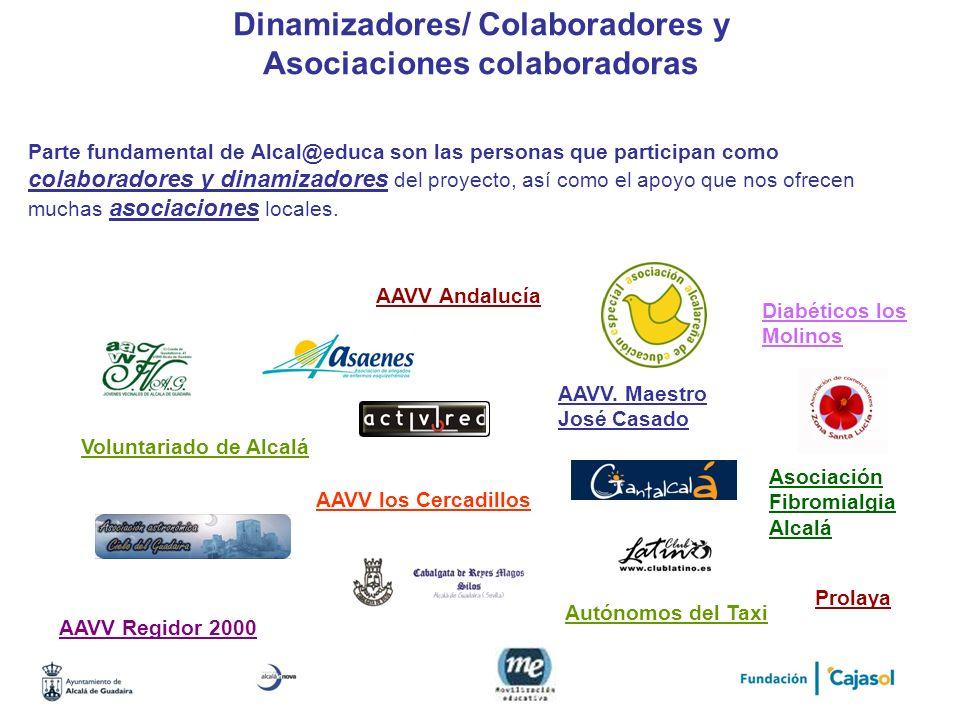 Dinamizadores/ Colaboradores y Asociaciones colaboradoras Parte fundamental de Alcal@educa son las personas que participan como colaboradores y dinami