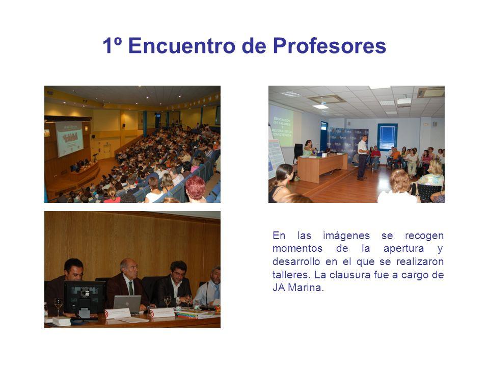 1º Encuentro de Profesores En las imágenes se recogen momentos de la apertura y desarrollo en el que se realizaron talleres. La clausura fue a cargo d