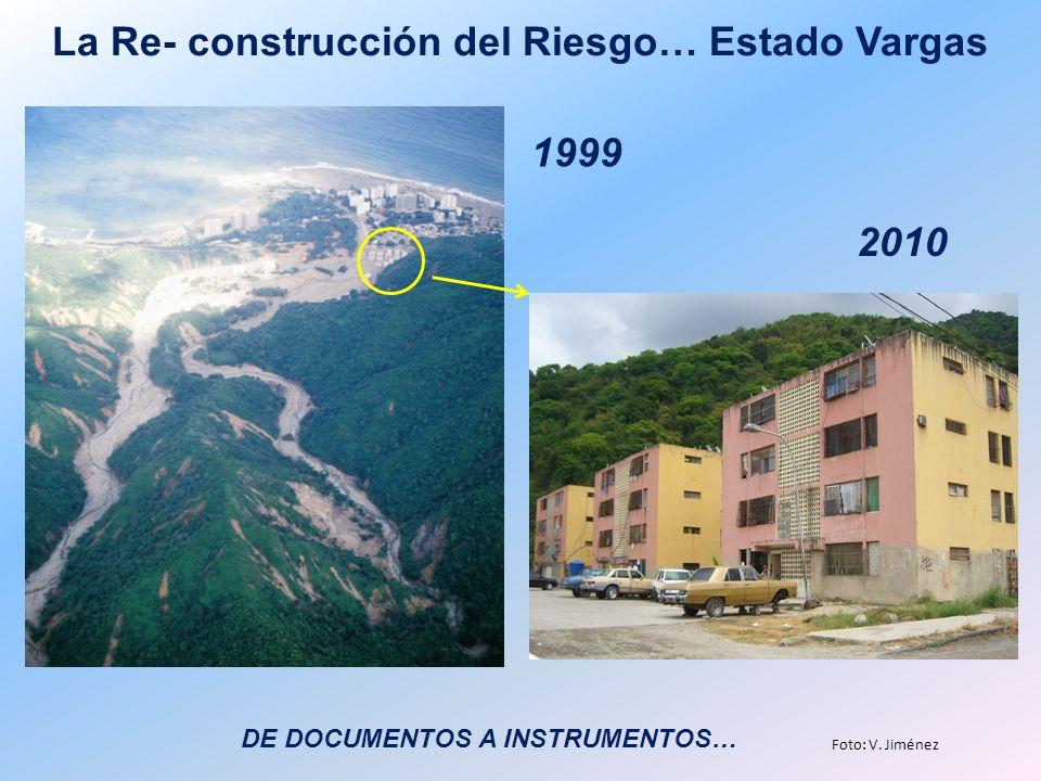 La Re- construcción del Riesgo… Estado Vargas 1999 2010 Foto: V. Jiménez DE DOCUMENTOS A INSTRUMENTOS…