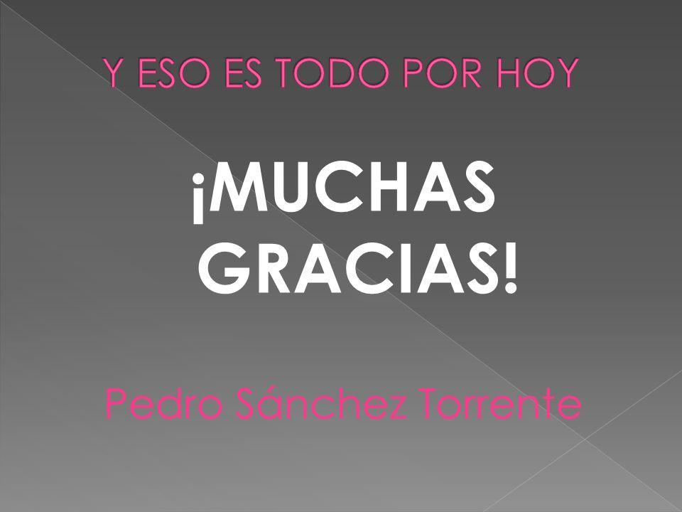 ¡MUCHAS GRACIAS! Pedro Sánchez Torrente