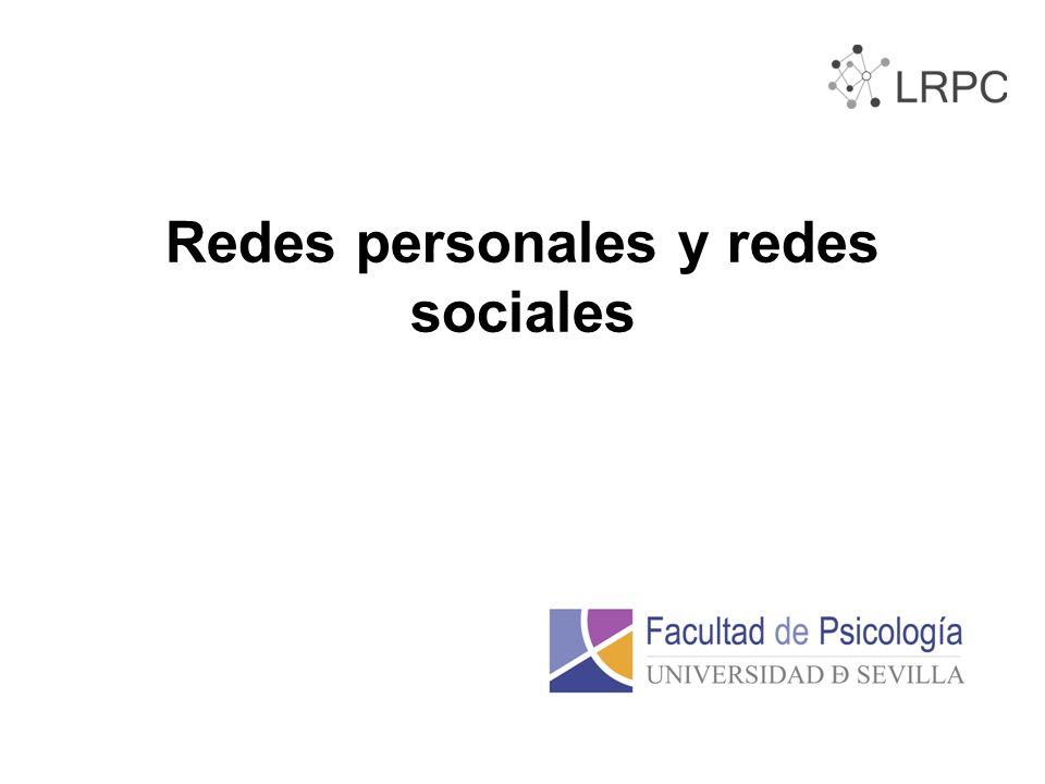 Redes personales y redes sociales