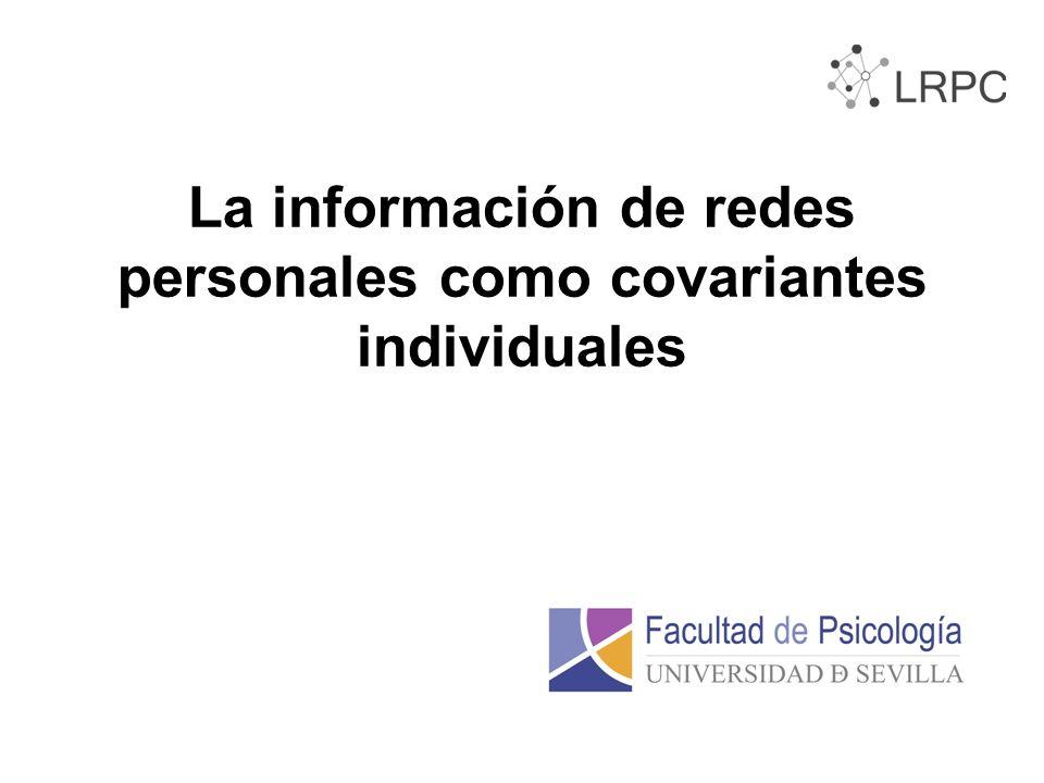 La información de redes personales como covariantes individuales