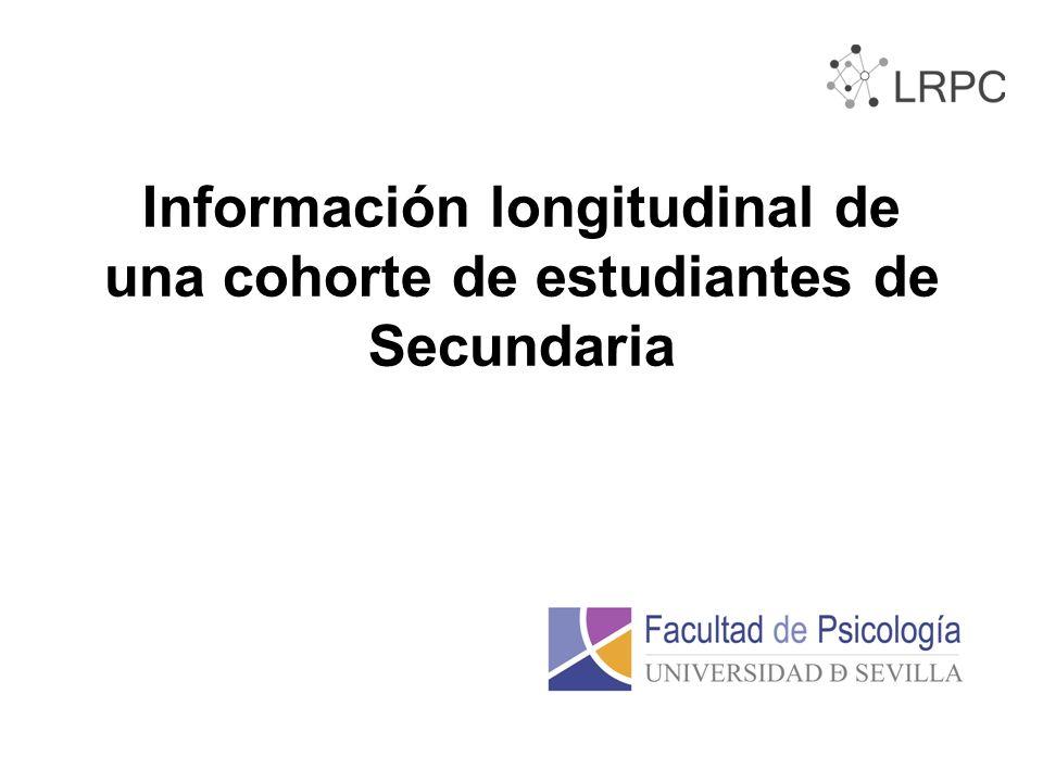 Información longitudinal de una cohorte de estudiantes de Secundaria