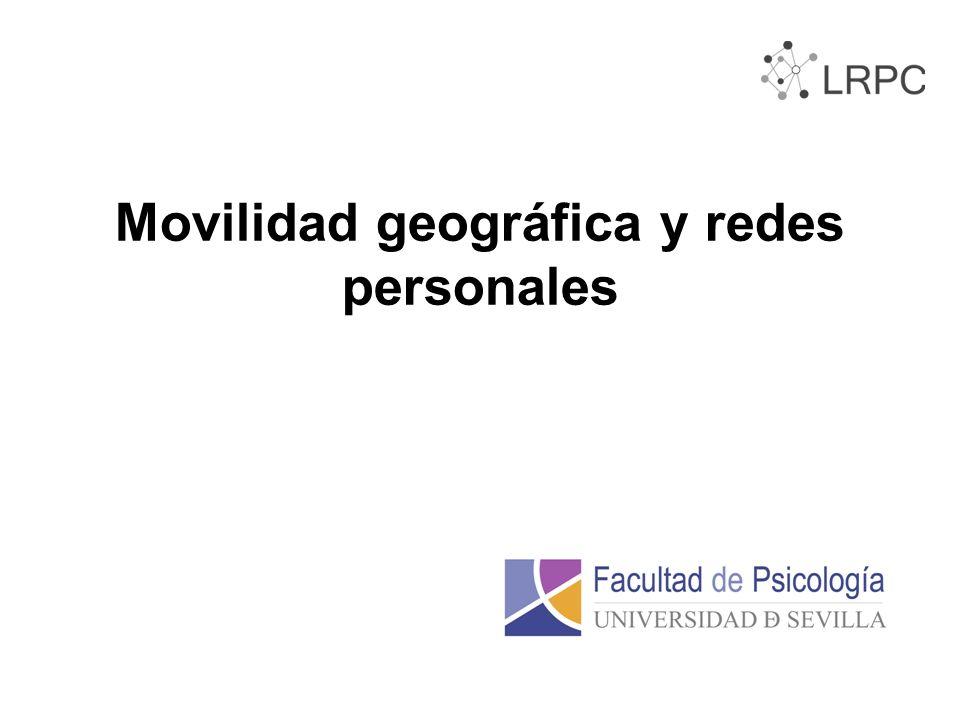 Movilidad geográfica y redes personales
