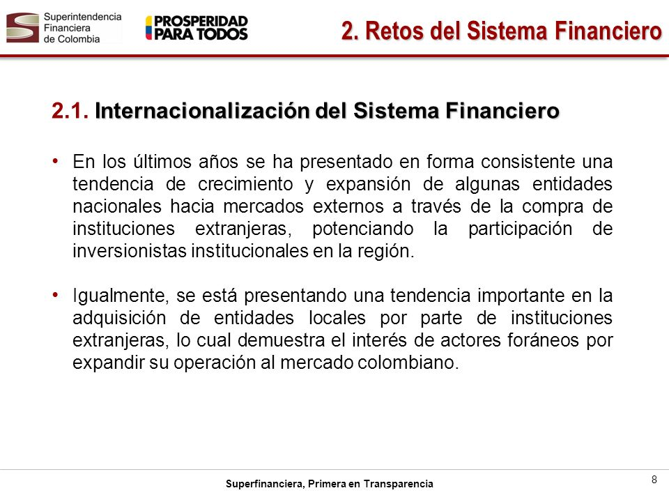 Superfinanciera, Primera en Transparencia 8 2.