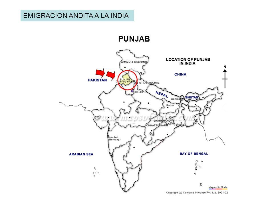 PUNJAB EMIGRACION ANDITA A LA INDIA