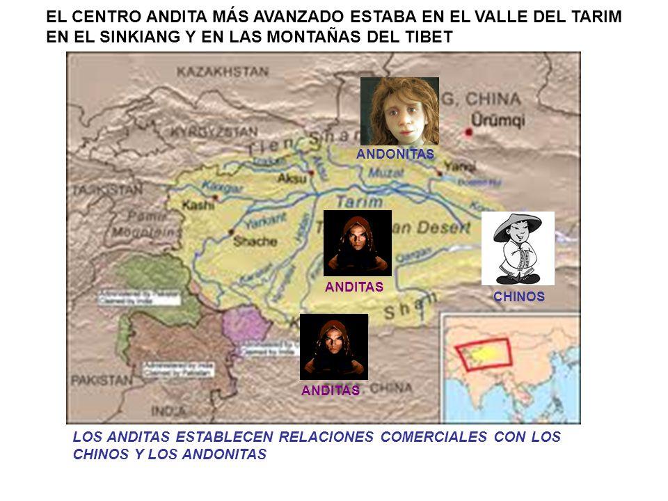 DEBIDO A LAS SEQUIAS LOS ANDITAS SE DISPERSARON POR EGIPTO, MESOPOTAMIA, TURQUESTÁN Y LOS RIOS DE INDIA Y CHINA