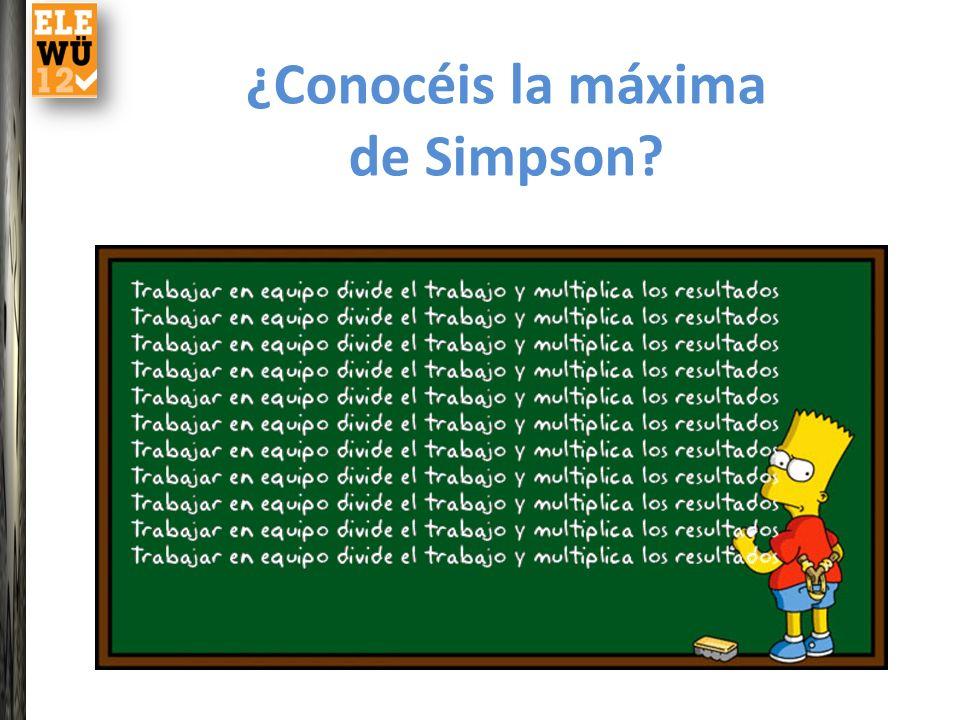 ¿Conocéis la máxima de Simpson?