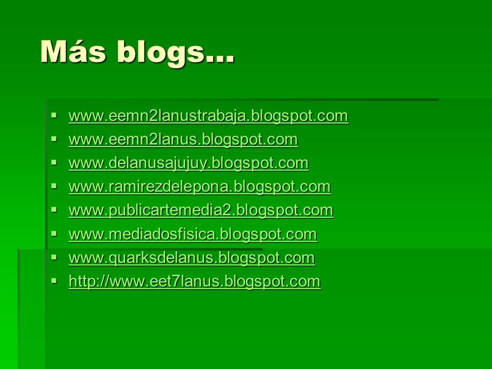 Más blogs… Más blogs… www.eemn2lanustrabaja.blogspot.com www.eemn2lanustrabaja.blogspot.com www.eemn2lanustrabaja.blogspot.com www.eemn2lanus.blogspot