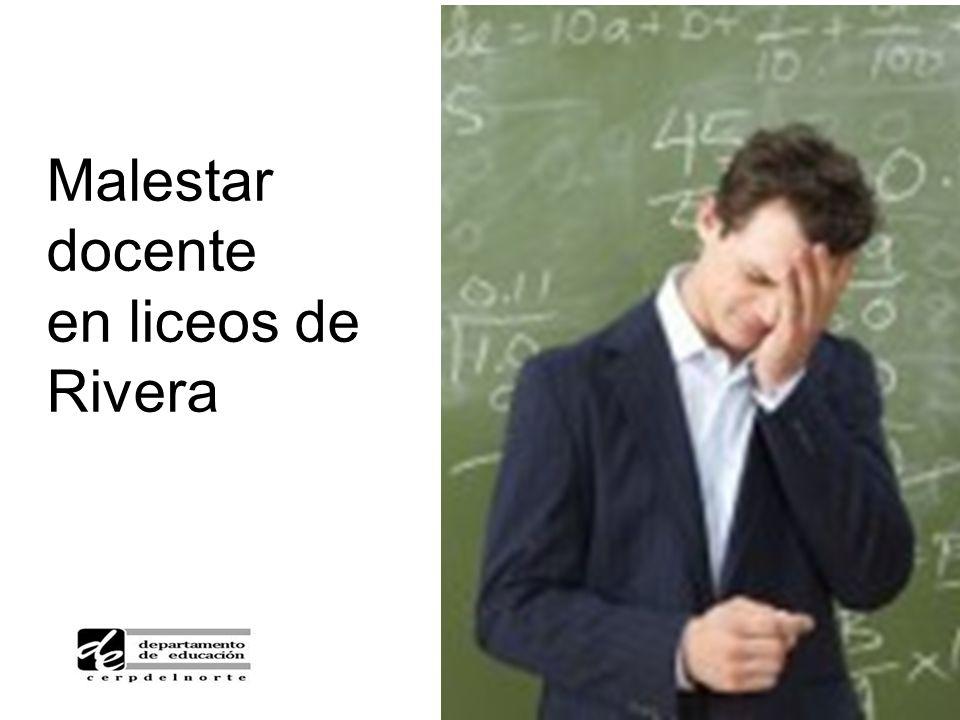 Malestar docente en liceos de Rivera