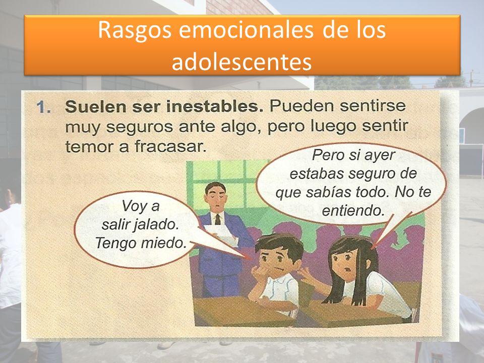 Rasgos emocionales de los adolescentes