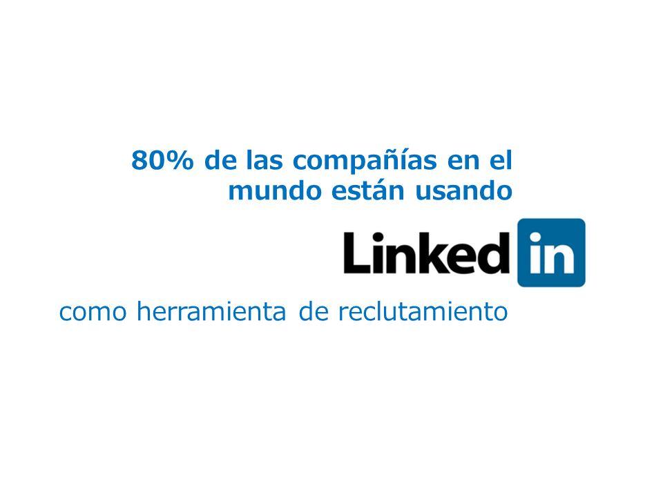 80% de las compañías en el mundo están usando como herramienta de reclutamiento
