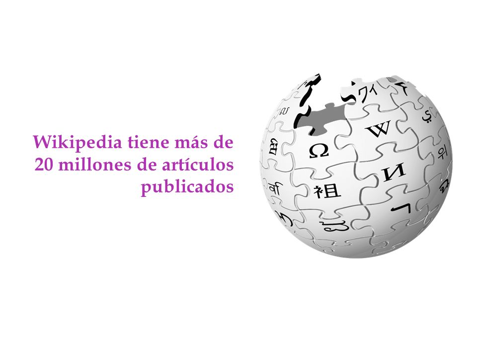 Wikipedia tiene más de 20 millones de artículos publicados