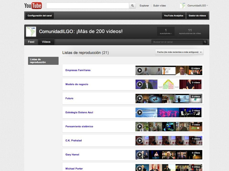 Las Redes Sociales en la Comunidad ILGO : ¡Más de 200 videos!