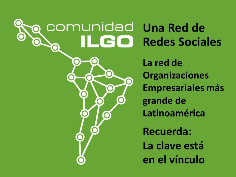 Una Red de Redes Sociales La red de Organizaciones Empresariales más grande de Latinoamérica Recuerda: La clave está en el vínculo