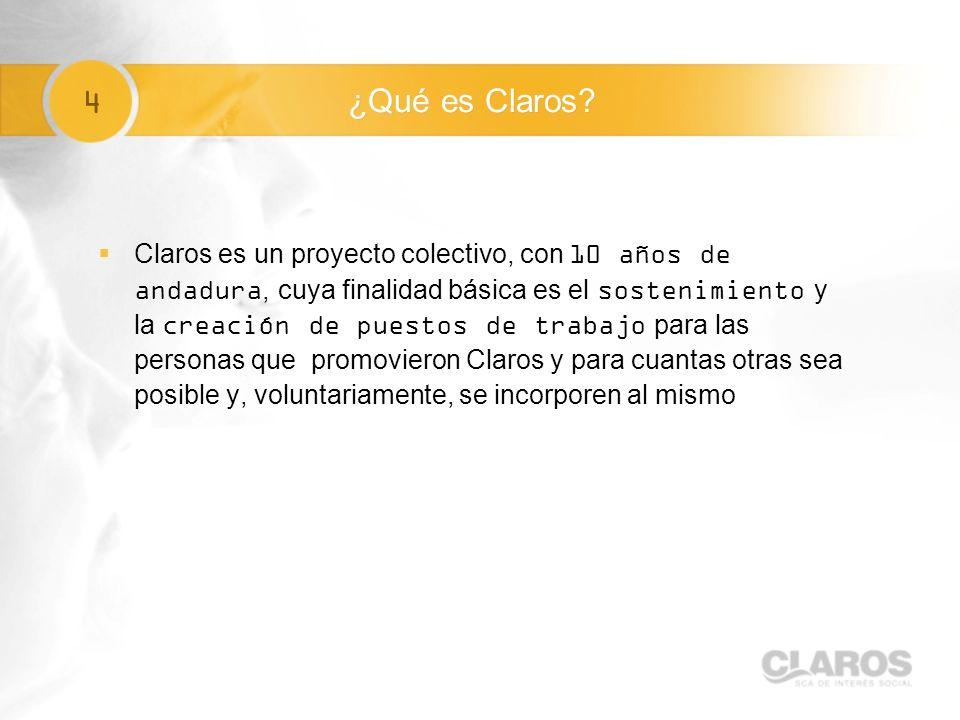 4 ¿Qué es Claros.