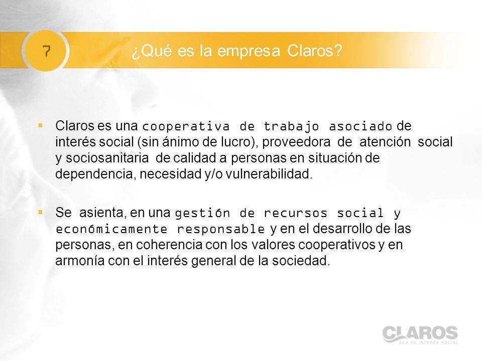 7 ¿Qué es la empresa Claros.