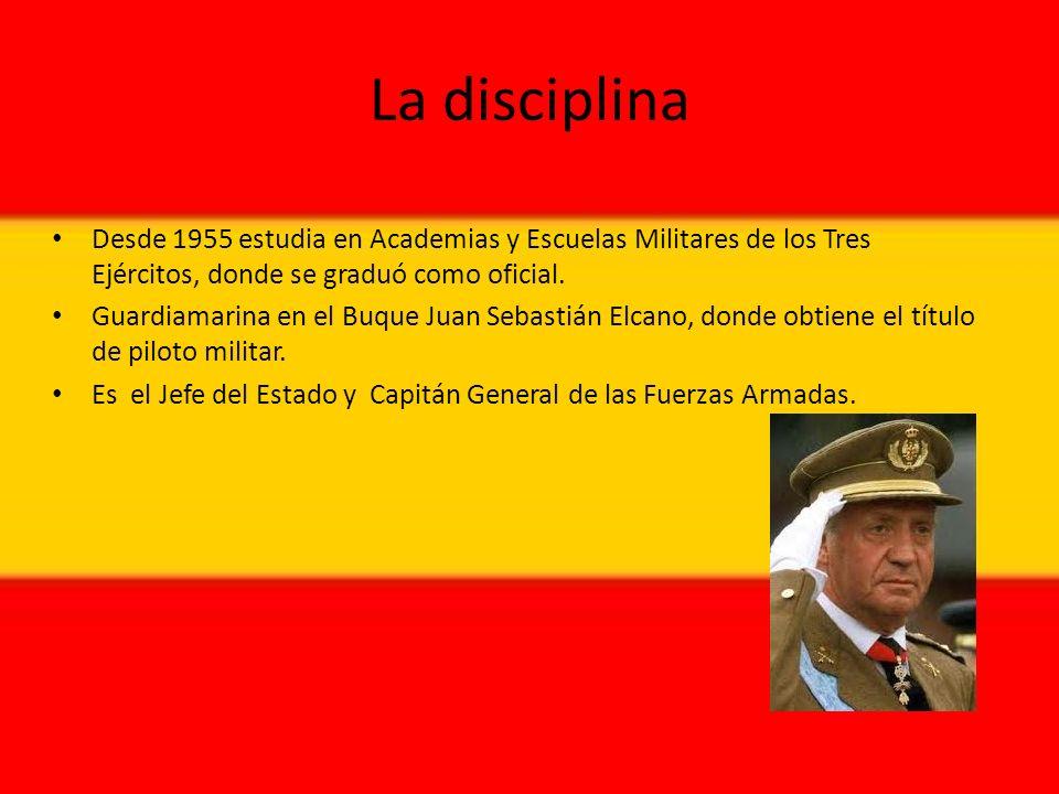 La disciplina Desde 1955 estudia en Academias y Escuelas Militares de los Tres Ejércitos, donde se graduó como oficial.