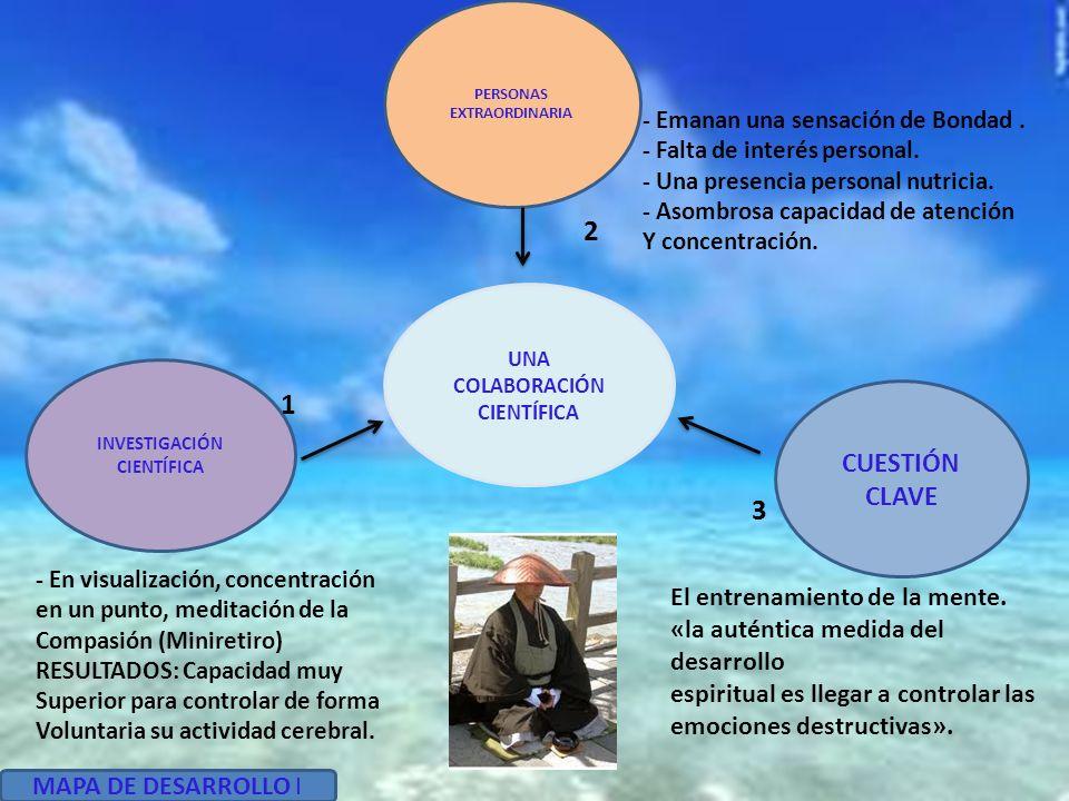 UNA COLABORACIÓN CIENTÍFICA PERSONAS EXTRAORDINARIA INVESTIGACIÓN CIENTÍFICA CUESTIÓN CLAVE - En visualización, concentración en un punto, meditación