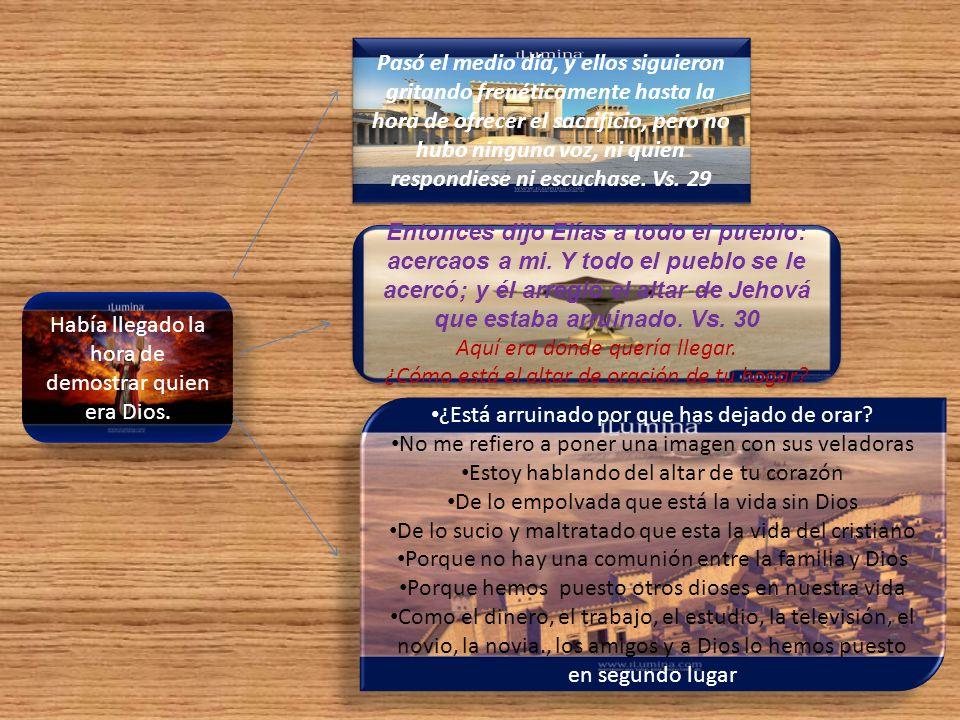 Pero Elías edificó, reconstruyó el altar, lo reparó, tomó las doce piedras y levantó un altar en el nombre de Jehová.