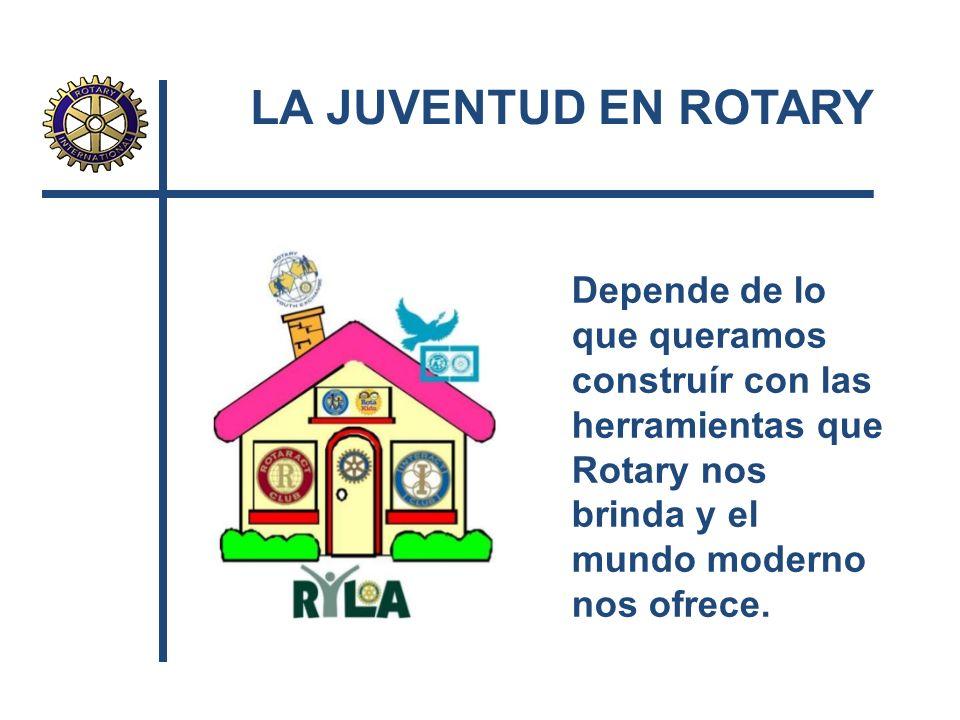 Depende de lo que queramos construír con las herramientas que Rotary nos brinda y el mundo moderno nos ofrece.