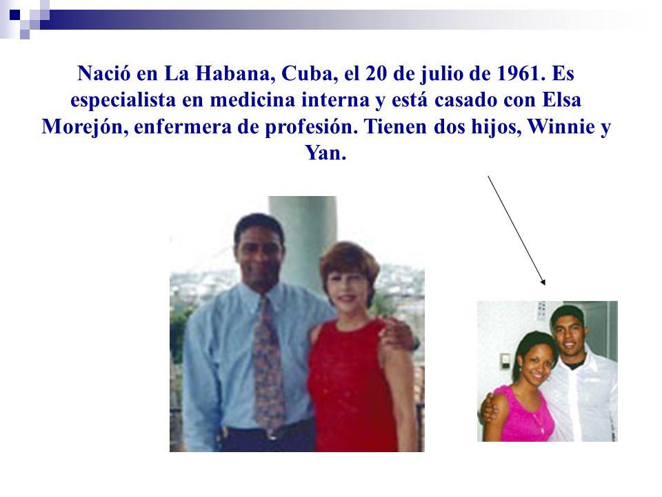 Nació en La Habana, Cuba, el 20 de julio de 1961.