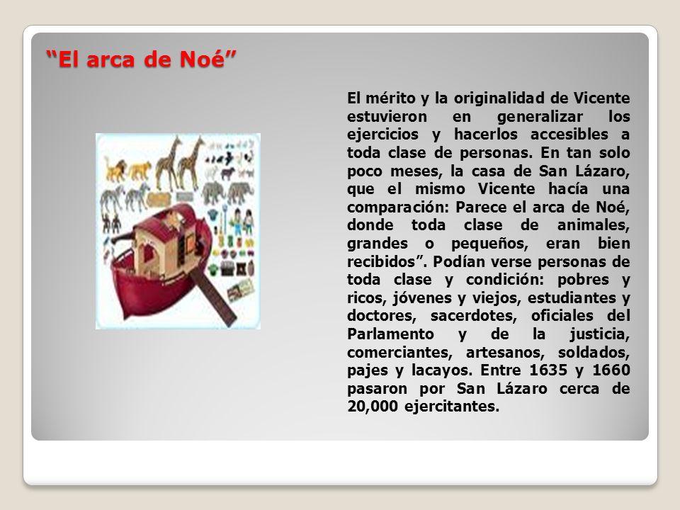 El arca de Noé El arca de Noé El mérito y la originalidad de Vicente estuvieron en generalizar los ejercicios y hacerlos accesibles a toda clase de personas.