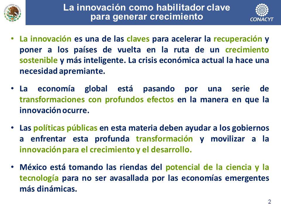 La innovación como habilitador clave para generar crecimiento La innovación es una de las claves para acelerar la recuperación y poner a los países de vuelta en la ruta de un crecimiento sostenible y más inteligente.