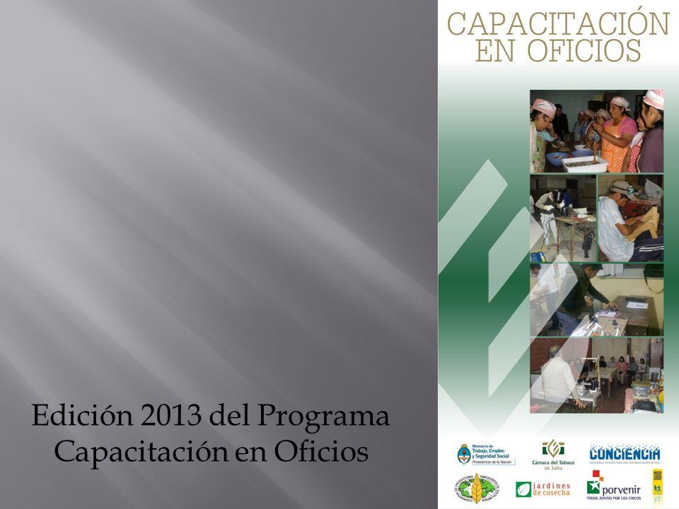 Edición 2013 del Programa Capacitación en Oficios
