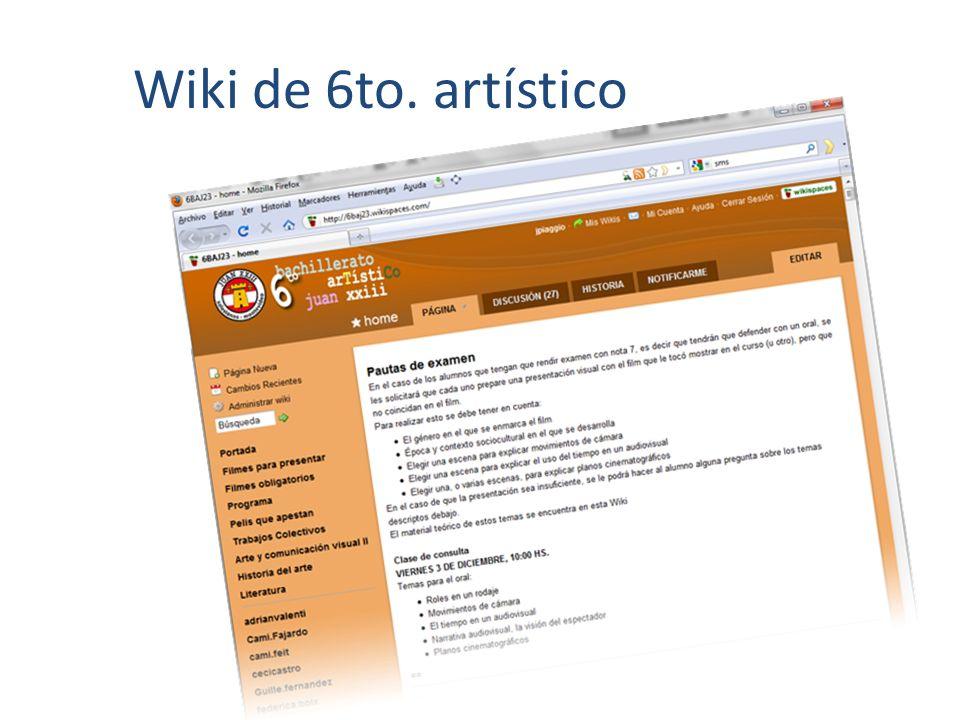 Wiki de 6to. artístico