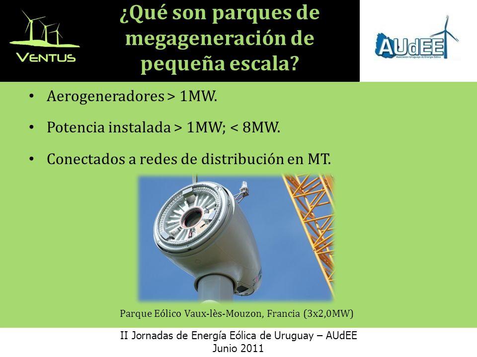 Desarrollo de un Proyecto Eólico II Jornadas de Energía Eólica de Uruguay – AUdEE Junio 2011