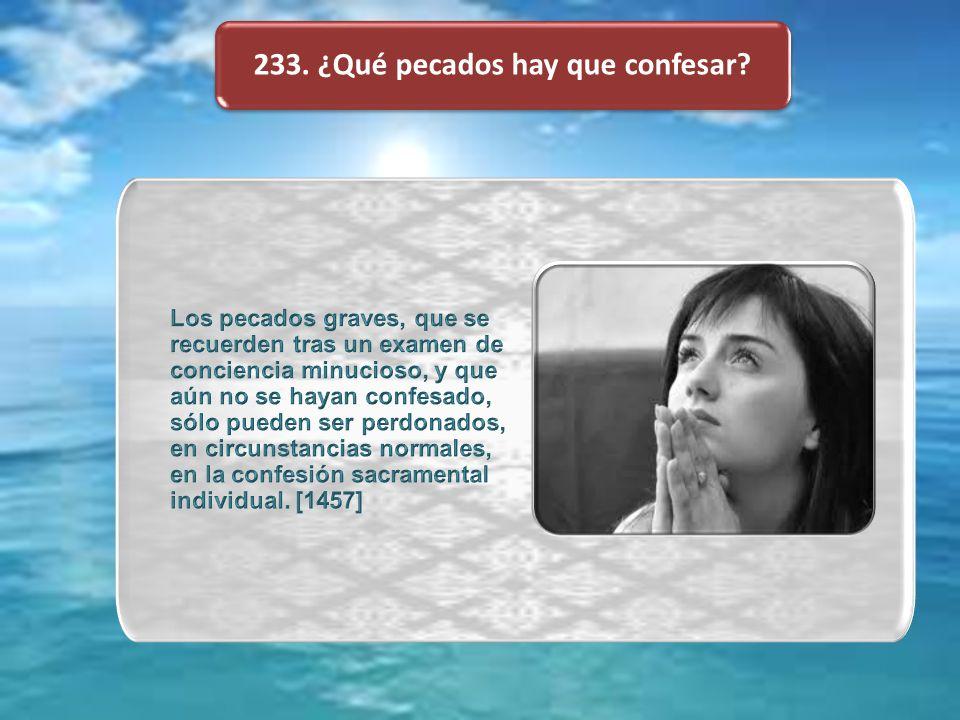 233. ¿Qué pecados hay que confesar?